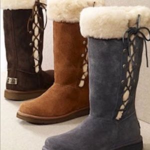 UGG Suede Winter Boots Style Upside